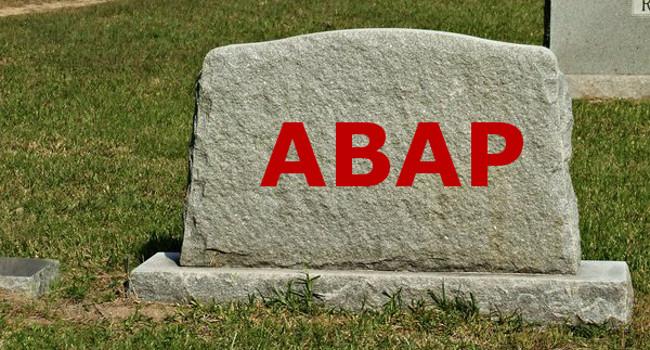 Supondo que o ABAP morra. E daí?